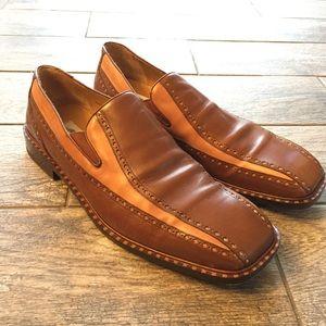 Mens mezlan Gaeta loafers shoes Brown / Tan 12